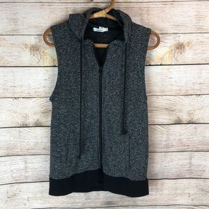 Sweater hooded vest